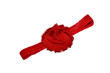 Red Shabby Flower Headband - Dream Lily Designs