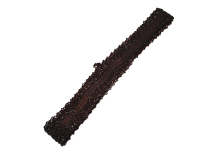 "Brown .5"" Lace Elastic Headband"