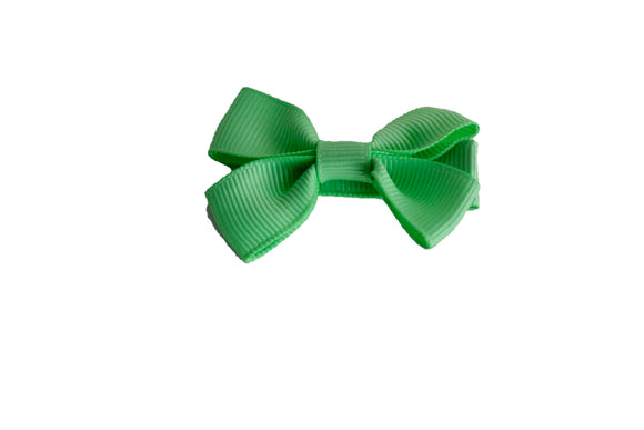 Mint Green Tiny Hair Bow Clip - Dream Lily Designs