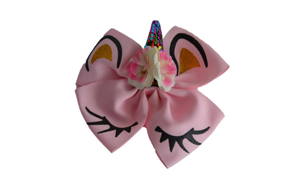 Light Pink Large Unicorn Clip - Dream Lily Designs