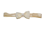 Cream Bowtie Headband - Dream Lily Designs