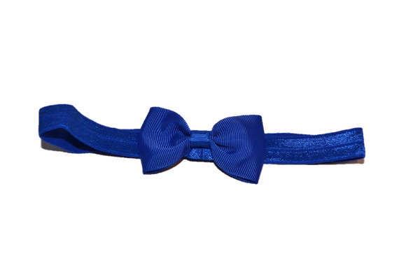 Dark Blue Bowtie Headband - Dream Lily Designs