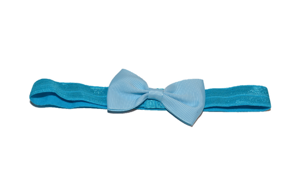 Light Blue Bowtie Headband - Dream Lily Designs