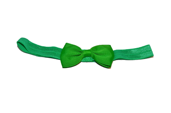 Green Bowtie Headband - Dream Lily Designs