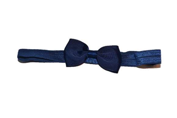 Navy Blue Bowtie Headband