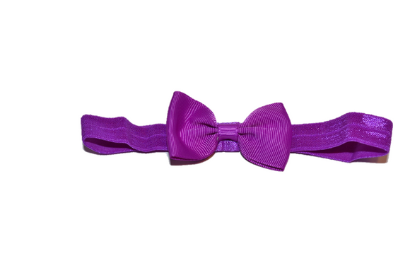 Purple Bowtie Headband - Dream Lily Designs