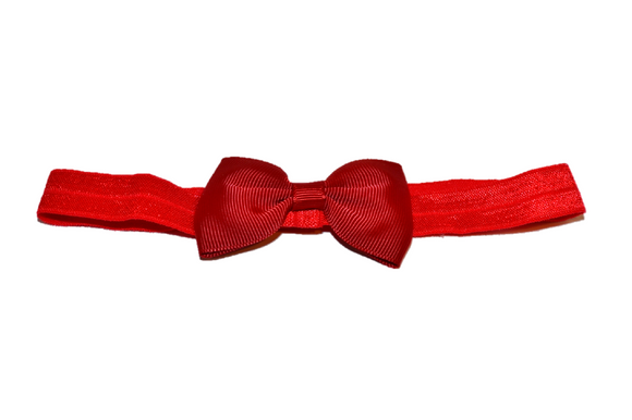 Dark Red Bowtie Headband - Dream Lily Designs