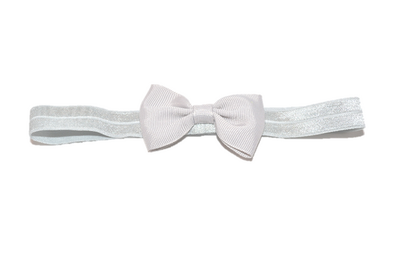 White Bowtie Headband - Dream Lily Designs