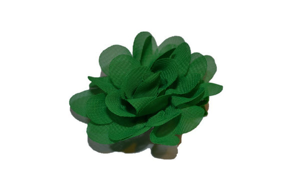 Small Chiffon Flower Hair Clip - Kelly Green