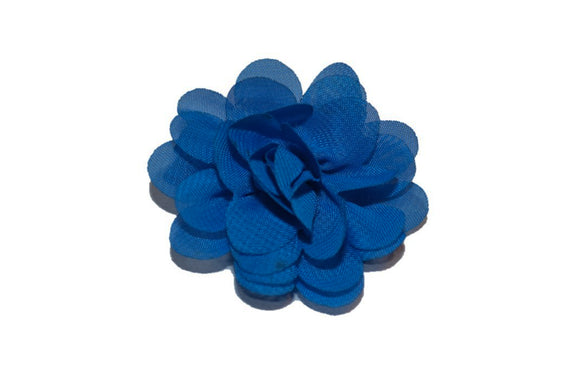 Small Chiffon Flower Hair Clip - Blue - Dream Lily Designs