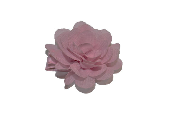 Small Chiffon Flower Hair Clip - Mauve Pink - Dream Lily Designs