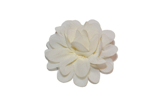 Small Chiffon Flower Hair Clip - Ivory - Dream Lily Designs