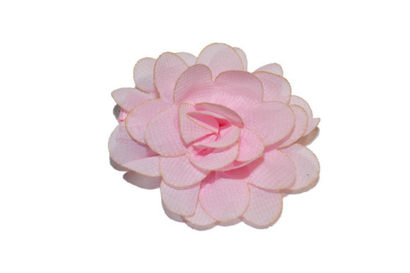 Small Chiffon Flower Hair Clip - Light Pink