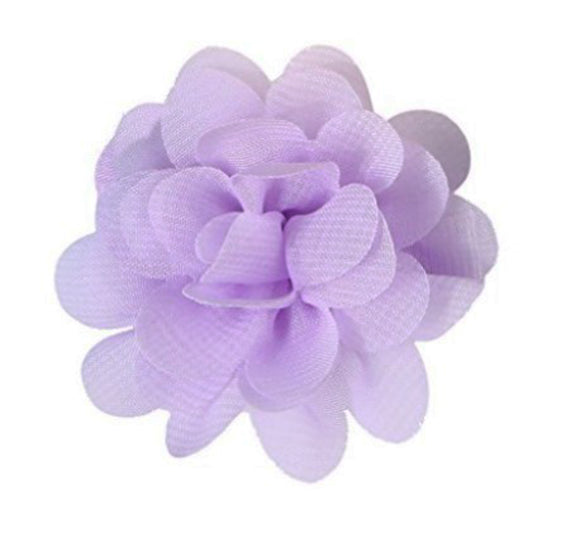 Small Chiffon Flower Hair Clip - Light Purple