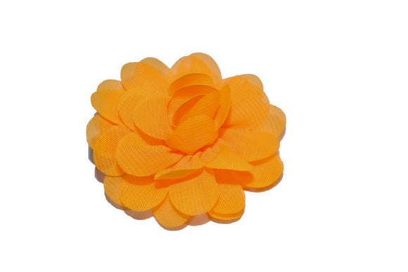 Small Chiffon Flower Hair Clip - Tangerine - Dream Lily Designs