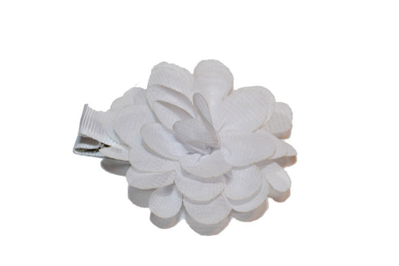 Small Chiffon Flower Hair Clip - White - Dream Lily Designs