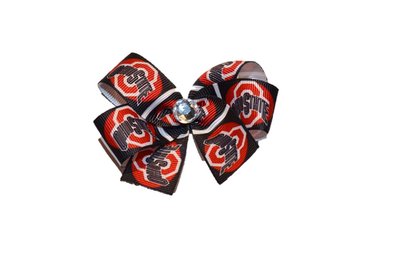 Black Red Ohio State Bow (Sports Teams) - Dream Lily Designs