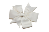 Ivory Pinwheel Hair Bow Clip - Dream Lily Designs