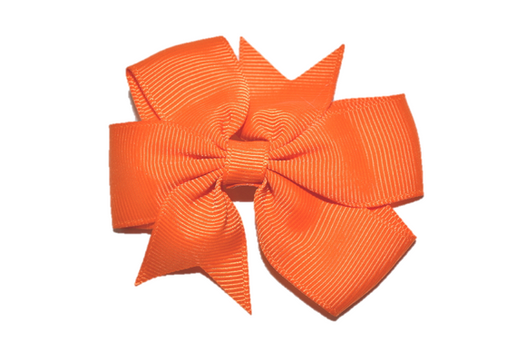 Dark Orange Pinwheel Hair Bow Clip