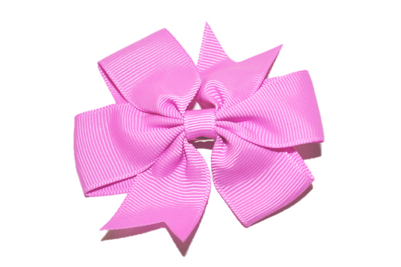 Light Magenta Pinwheel Hair Bow Clip - Dream Lily Designs