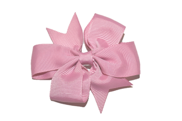 Mauve Dusty Rose Pink Pinwheel Hair Bow Clip - Dream Lily Designs
