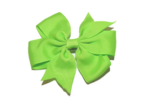 Lime Green Pinwheel Hair Bow Clip - Dream Lily Designs