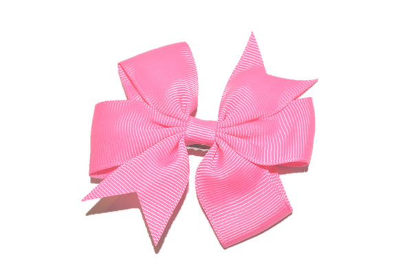 Baby Pink Pinwheel Hair Bow Clip - Dream Lily Designs