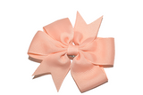 Peach Pinwheel Hair Bow Clip - Dream Lily Designs