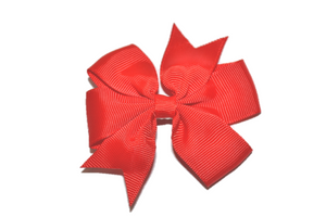 Red Pinwheel Hair Bow Clip - Dream Lily Designs