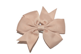 Tan Pinwheel Hair Bow Clip - Dream Lily Designs