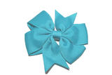 Teal Pinwheel Hair Bow Clip - Dream Lily Designs