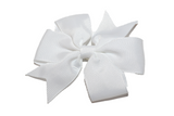 White Pinwheel Hair Bow Clip - Dream Lily Designs