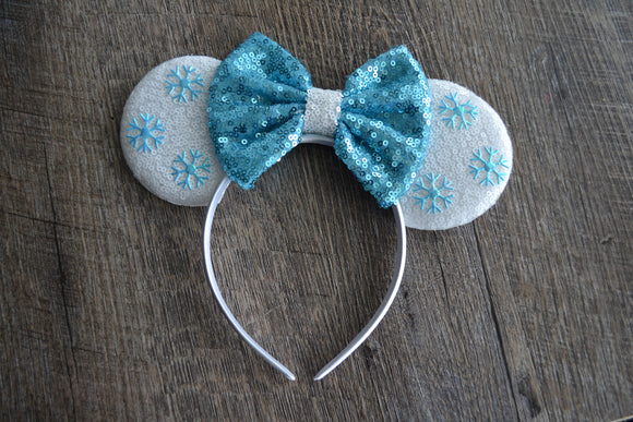 Snowflake Elsa Minnie Mouse Deluxe Headband - Dream Lily Designs