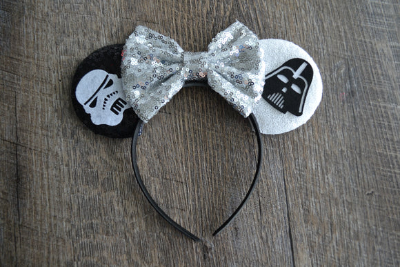 Star Wars Darth Vader Minnie Mouse Deluxe Headband - Dream Lily Designs