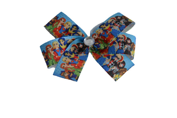 Super Woman Cat Woman Girl Super hero bow (Superhero) - Dream Lily Designs