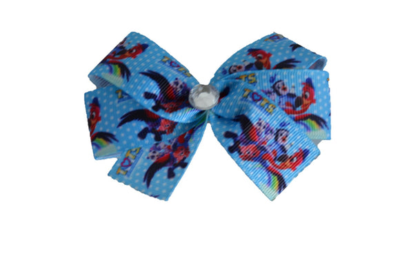 TOTS Disney Junior Blue Polka Dot Bow (Disney) - Dream Lily Designs
