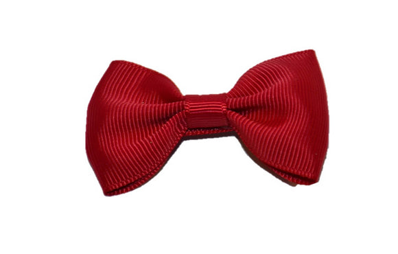 Maroon Small Bow Tie Hair Bow Clip - Dream Lily Designs