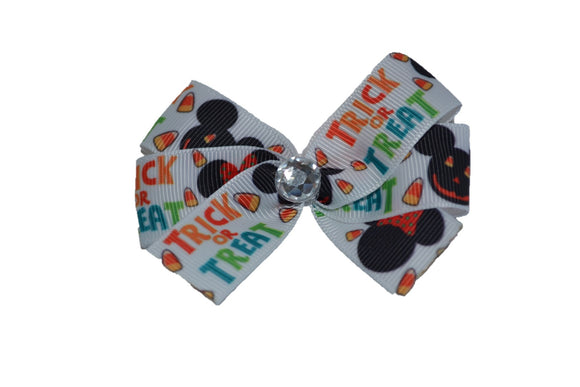 Minnie Trick or Treat Halloween Bow (Minnie) - Dream Lily Designs
