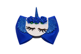 Blue Unicorn Bow - Dream Lily Designs