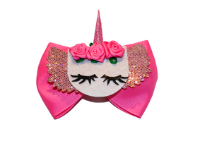 Pink Unicorn Bow - Dream Lily Designs