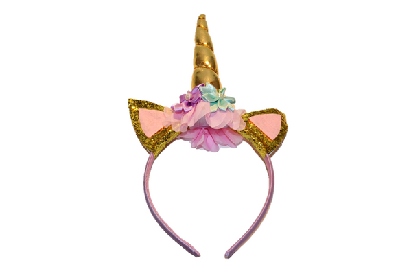 Gold Unicorn Headband - Dream Lily Designs