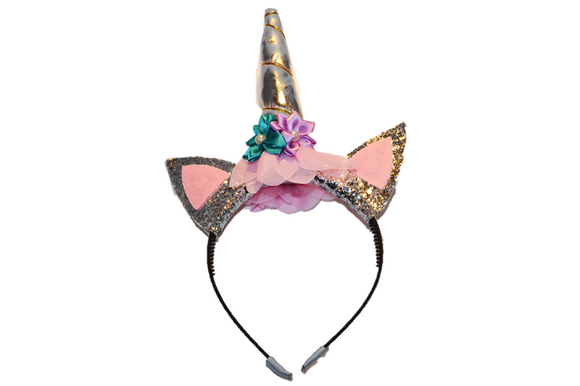 Silver Unicorn Headband - Dream Lily Designs
