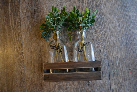 2 Glass Jar with Greenery and Wood Box Gift Set - Dream Lily Designs