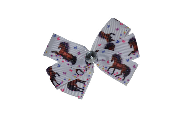 Brown Horse with Butterflies Bow (Animal) - Dream Lily Designs