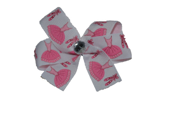 Pink Ballerina Tutu Dance Slippers Bow (Sports) - Dream Lily Designs