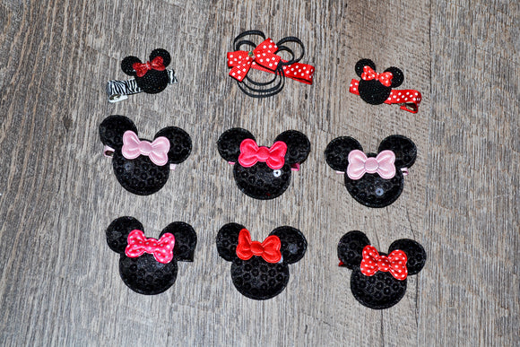 Wholesale Bulk Order - Minnie Mouse Hair Clips - Dream Lily Designs