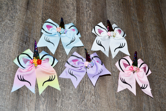 Wholesale Bulk Order - Unicorn Pony Hairbows with Sequin Horn - Dream Lily Designs