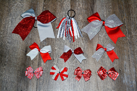 Wholesale Bulk Order - Red Grey School Spirit Pack - Dream Lily Designs