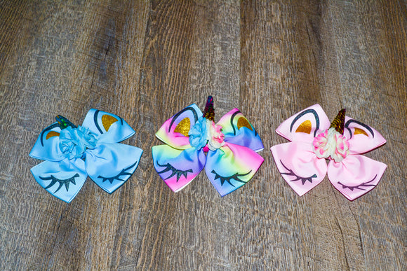 Wholesale Bulk Order - Unicorn Clip Hair bows with Sequin Horn - Dream Lily Designs