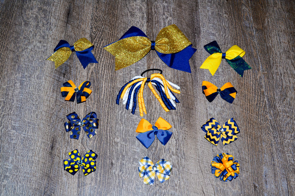 Wholesale Bulk Order - Navy Blue Gold Yellow School Spirit Pack - Dream Lily Designs